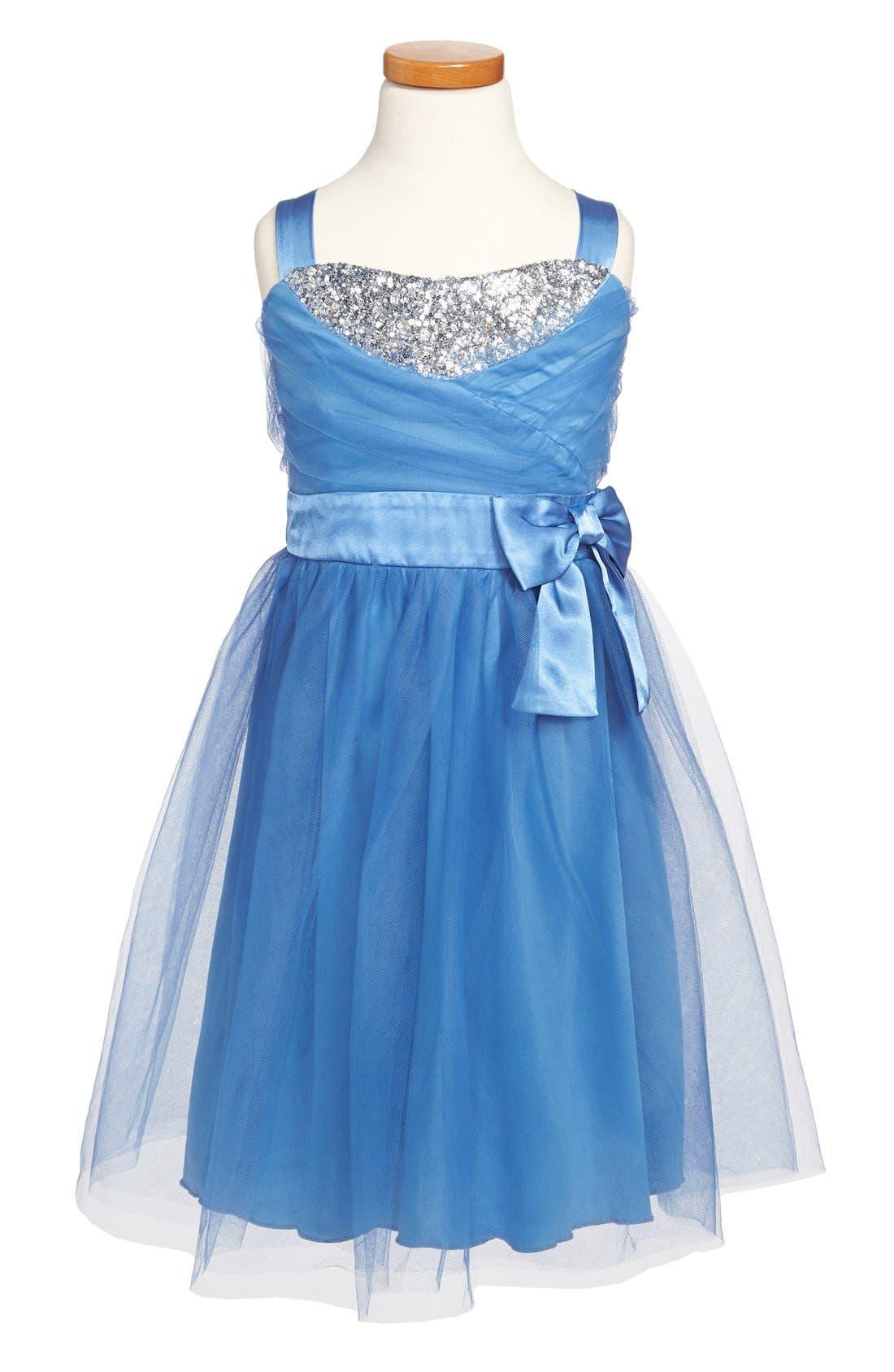 Main Image - Roxette Tulle Dress (Big Girls)