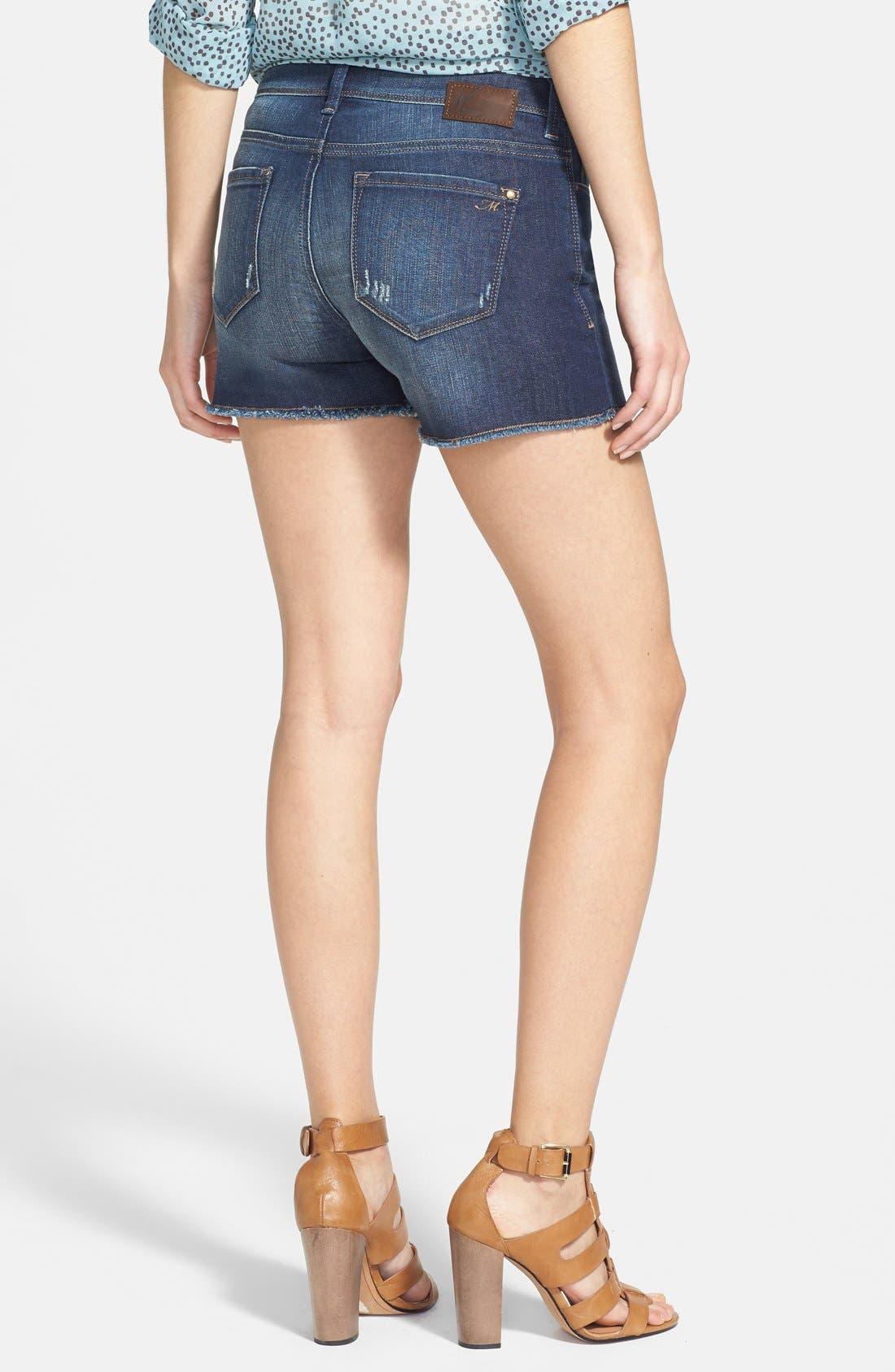 Alternate Image 2  - Mavi Jeans 'Emily' Cutoff Destroyed Denim Shorts (Vintage)