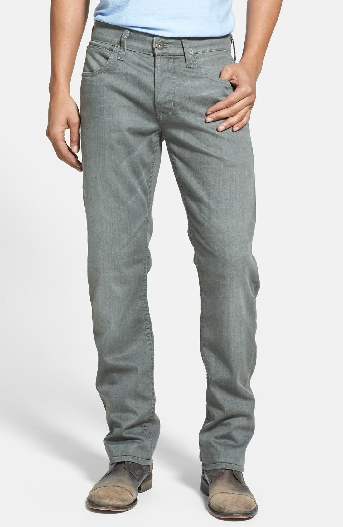 Alternate Image 1 Selected - Hudson Jeans 'Byron' Straight Leg Jeans (Olive Vintage)