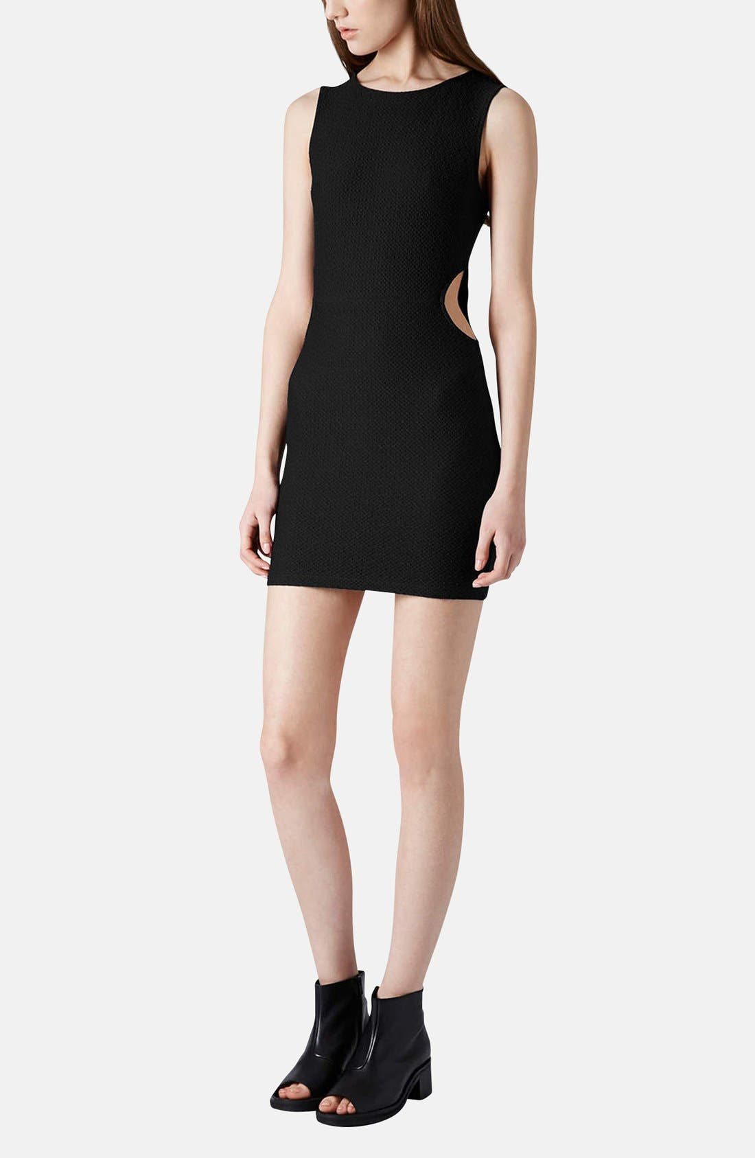 Alternate Image 5  - Topshop Textured Cutout Body-Con Dress