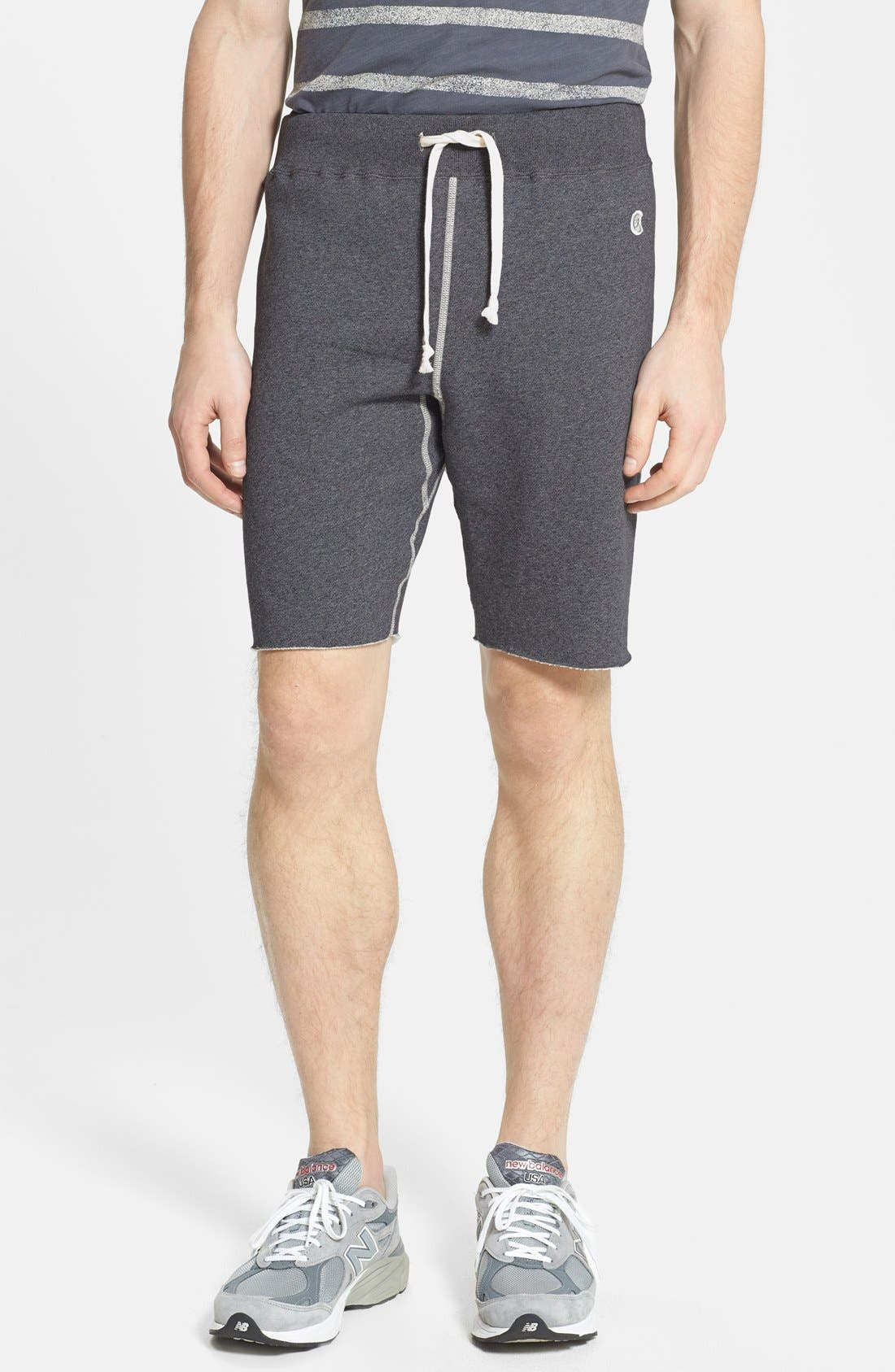 Knit Cotton Shorts,                         Main,                         color, Charcoal Heather