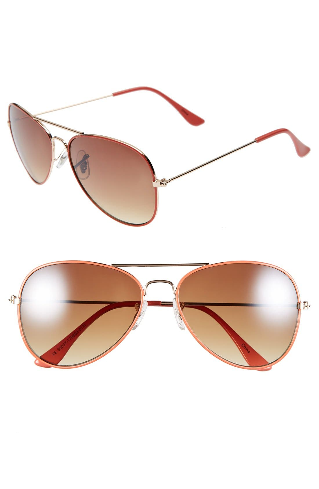 Alternate Image 1 Selected - Icon Eyewear 'Helen' 57mm Aviator Sunglasses (Juniors)