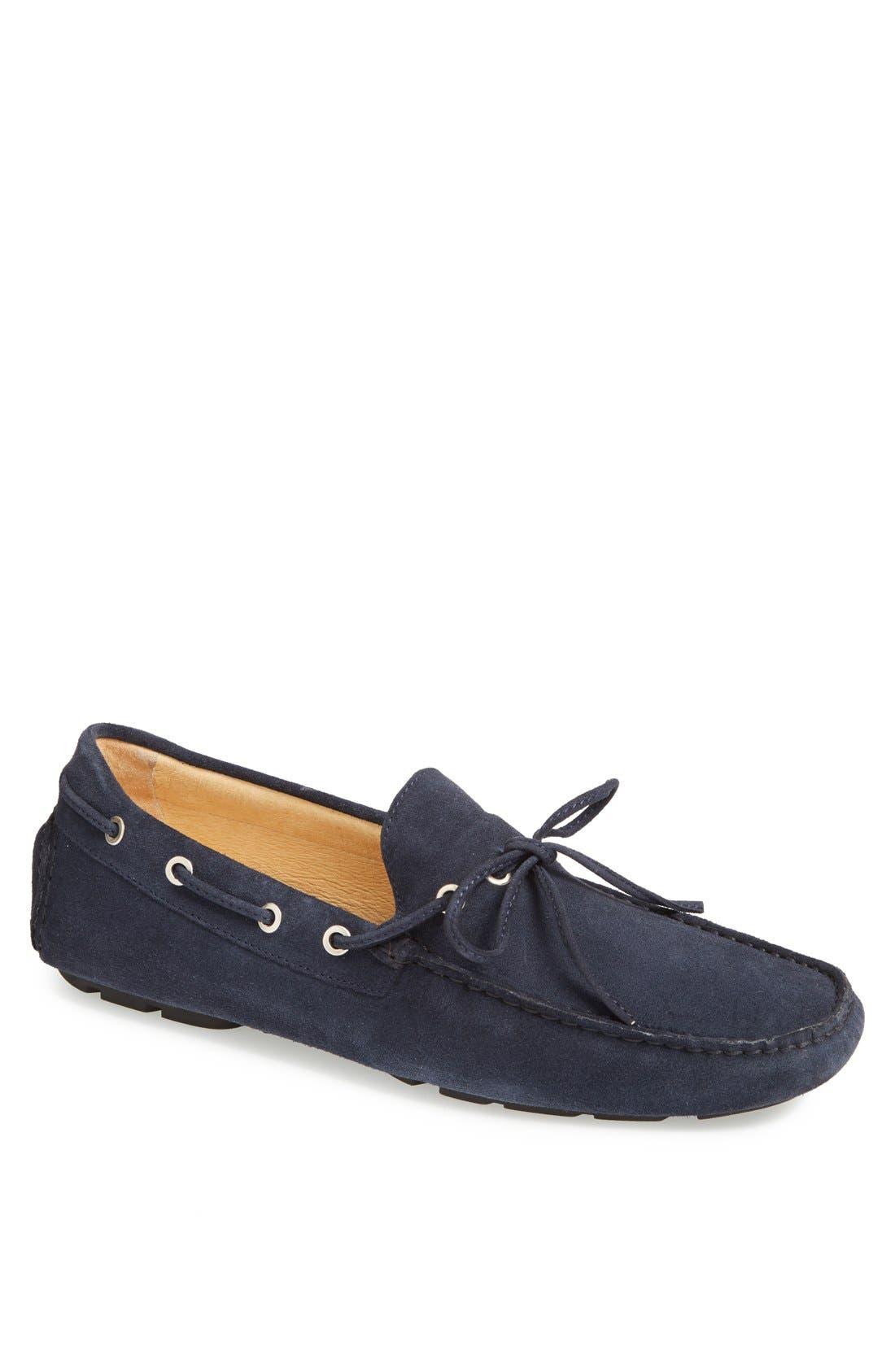Alternate Image 1 Selected - Boemos Suede Driving Shoe (Men)