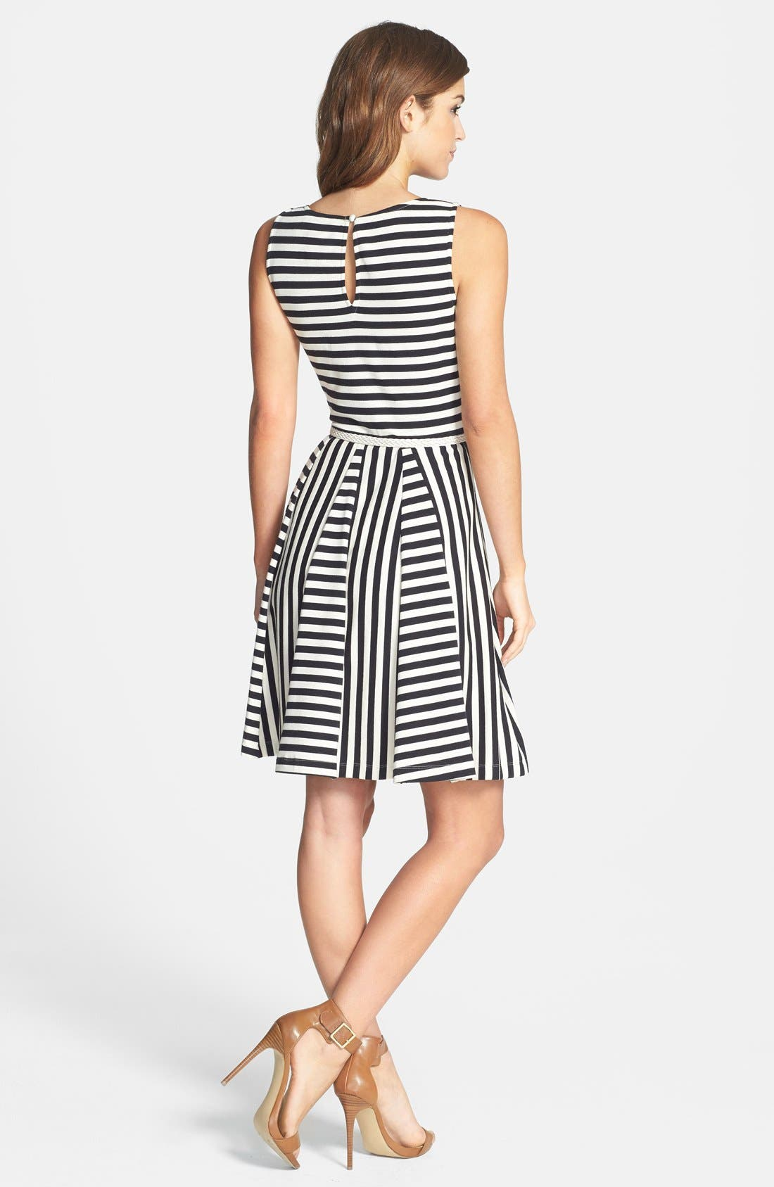 Alternate Image 2  - Eliza J Sleeveless V-Neck Fit & Flare Dress (Petite)