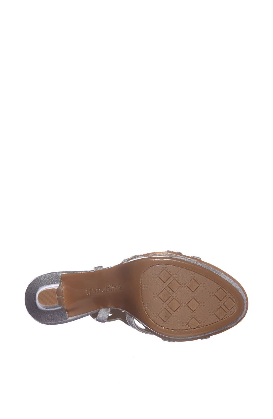 'Danya' Sandal,                             Alternate thumbnail 4, color,                             Silver Crosshatch