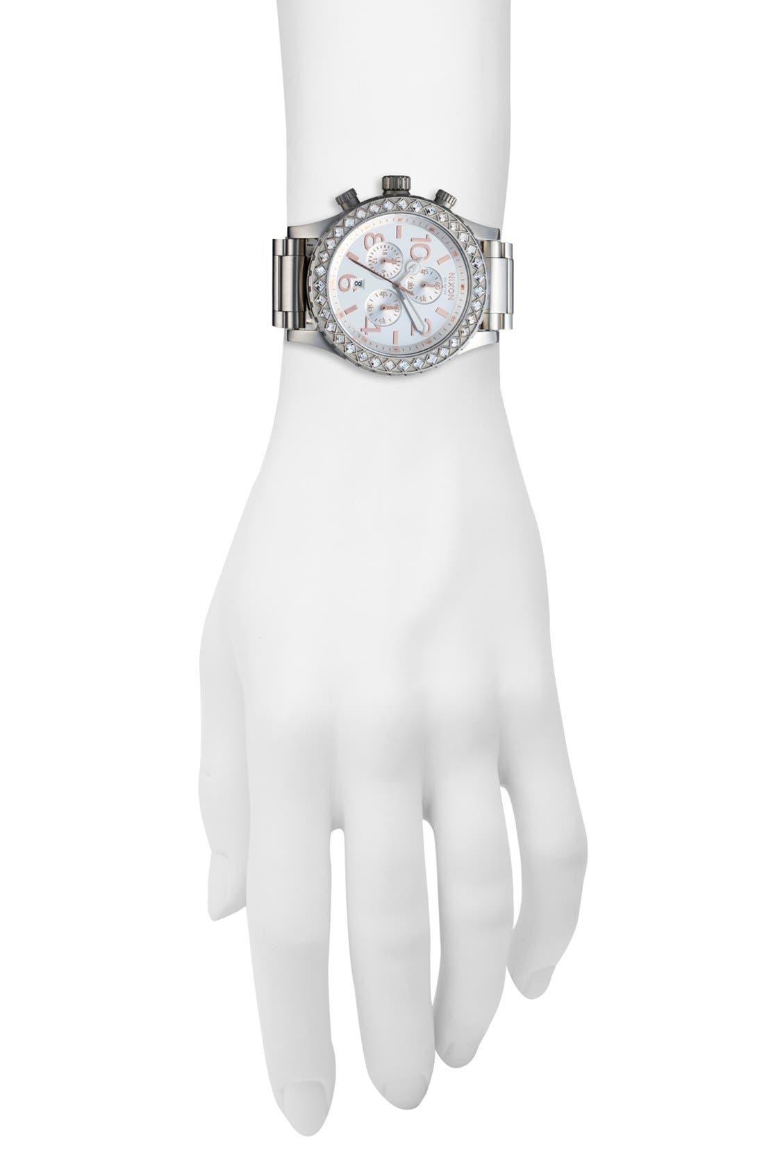 Alternate Image 4  - Nixon 'The 42-20 Chrono' Crystal Bracelet Watch, 42mm