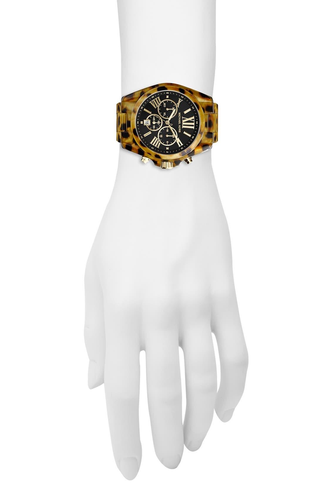 Alternate Image 4  - Michael Kors 'Bradshaw' Chronograph Resin Bracelet Watch, 43mm