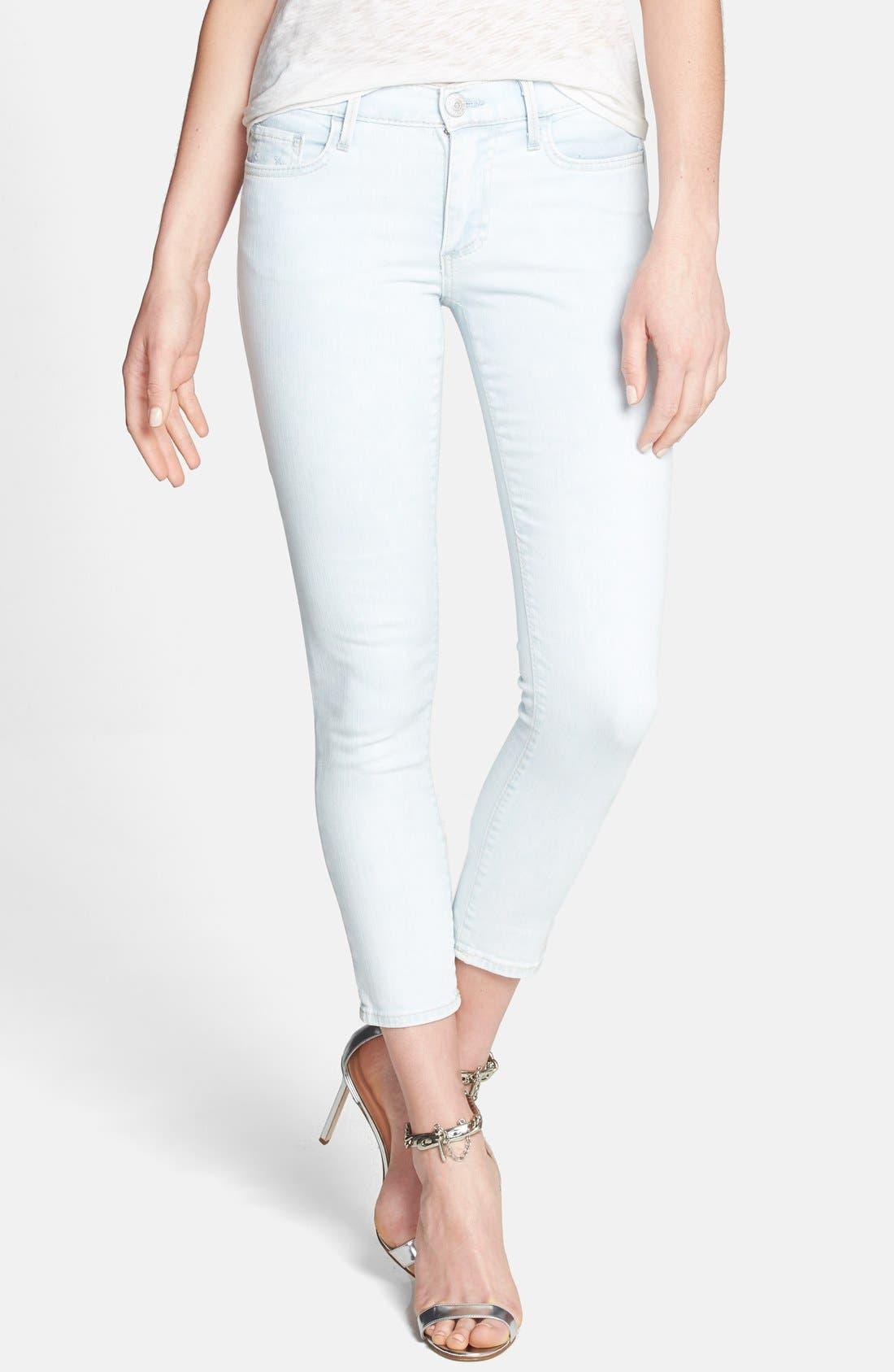 Alternate Image 1 Selected - True Religion Brand Jeans Crop Skinny Jeans (Soul Eyes)