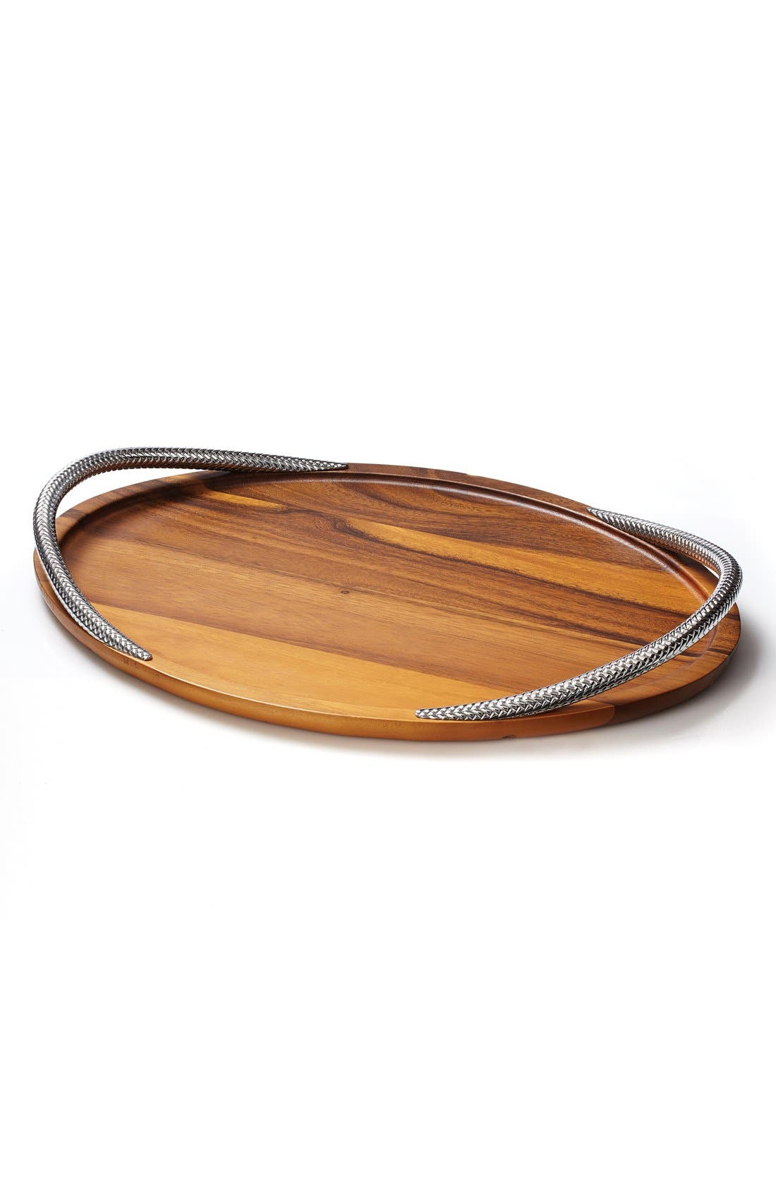 Braid Serving Tray,                         Main,                         color, Silver