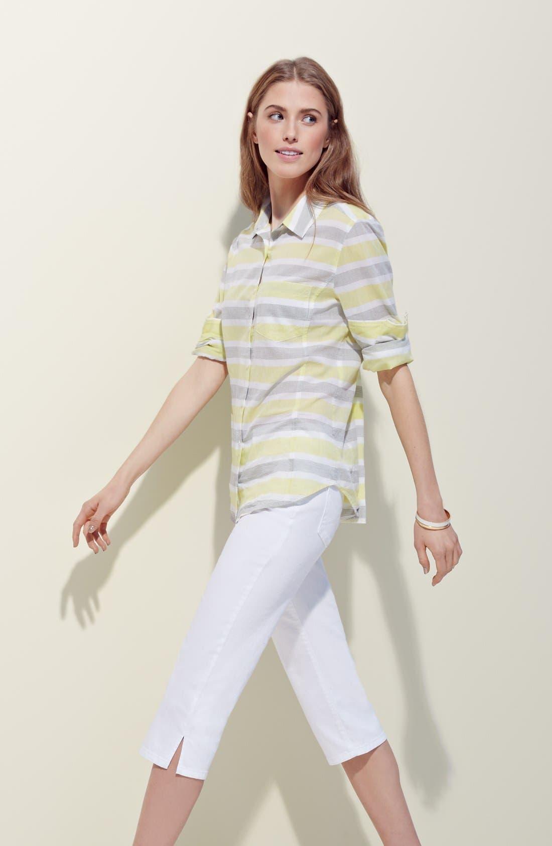Alternate Image 4  - NYDJ 'Hayden' Stretch Cotton Crop Pants (Regular & Petite)