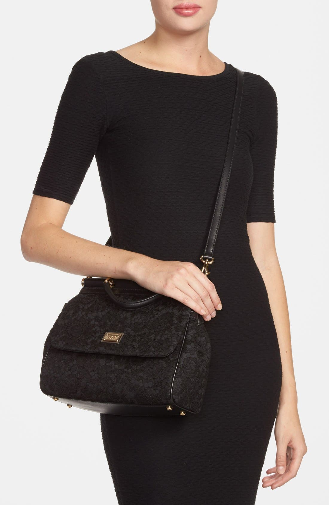 Alternate Image 2  - Dolce&Gabbana 'Small Miss Sicily' Top Handle Satchel