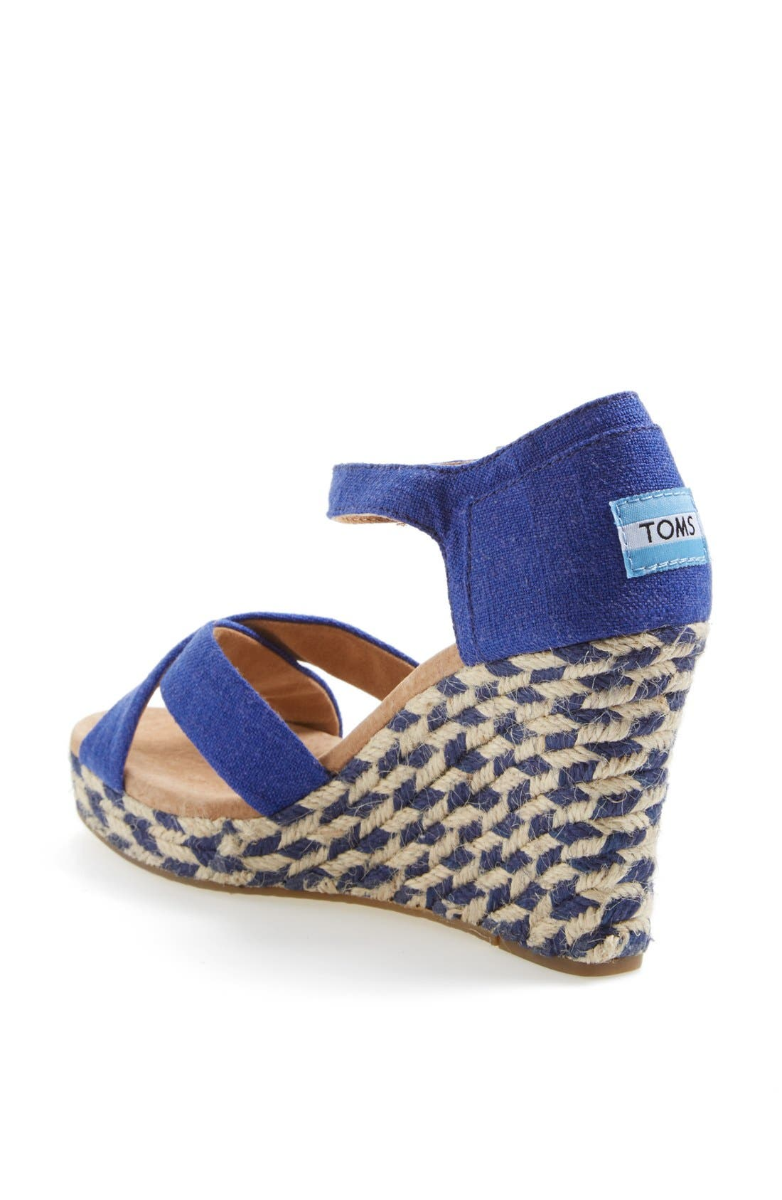 Alternate Image 2  - TOMS 'Mixed Rope' Wedge Sandal