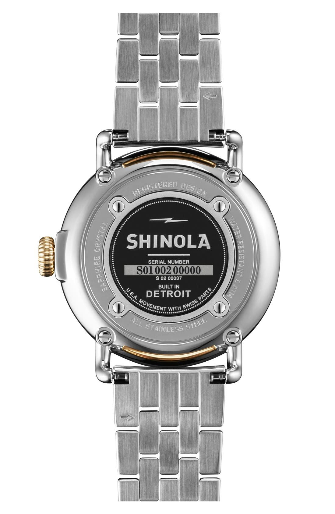 Alternate Image 2  - Shinola 'The Runwell' Bracelet Watch, 36mm