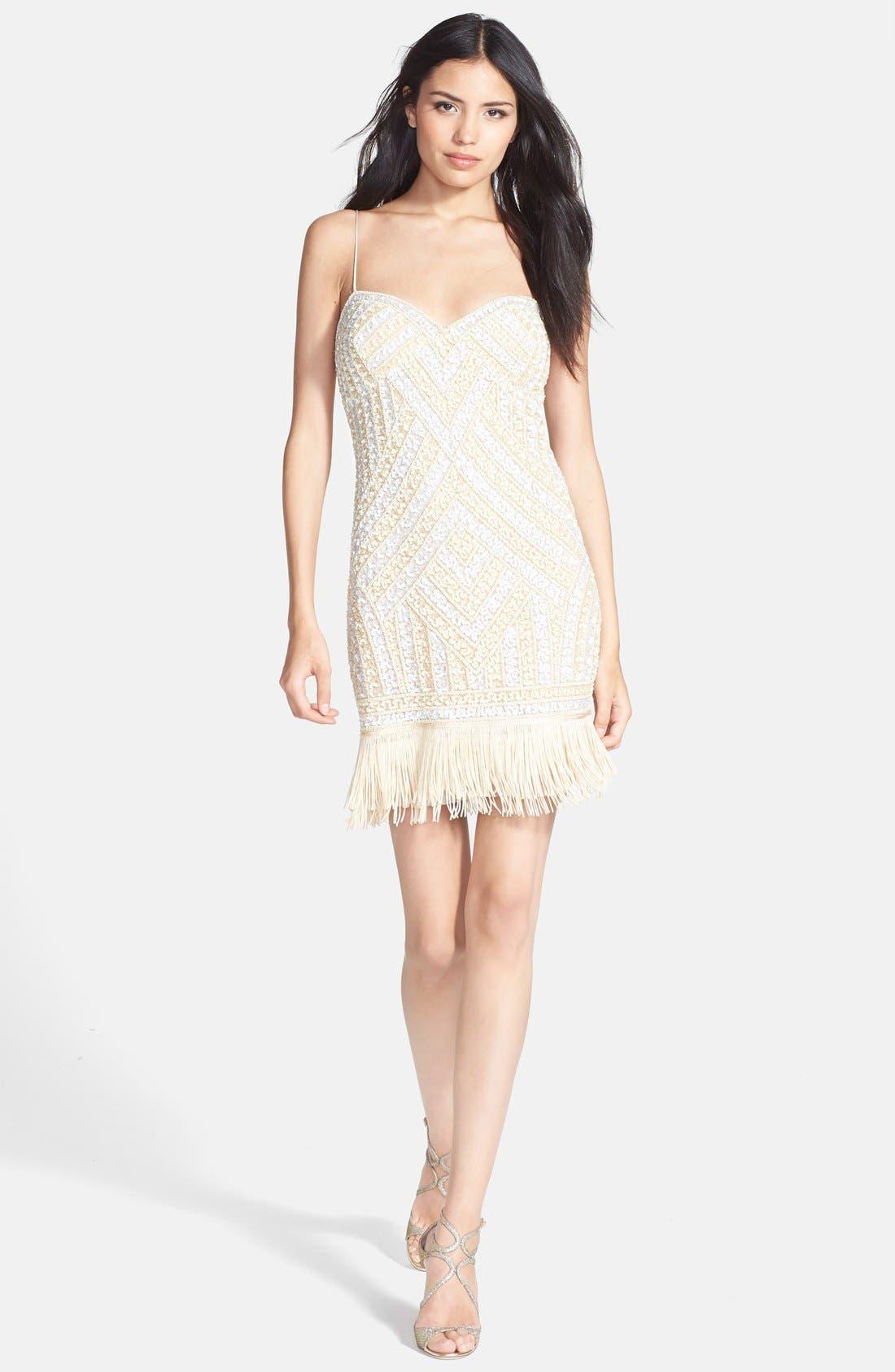 Alternate Image 3  - Aidan Mattox Embellished Fringe Dress