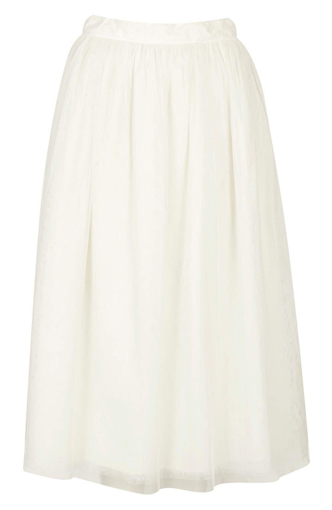 Alternate Image 3  - Topshop 'Ballerina Prom' Tulle Midi Skirt