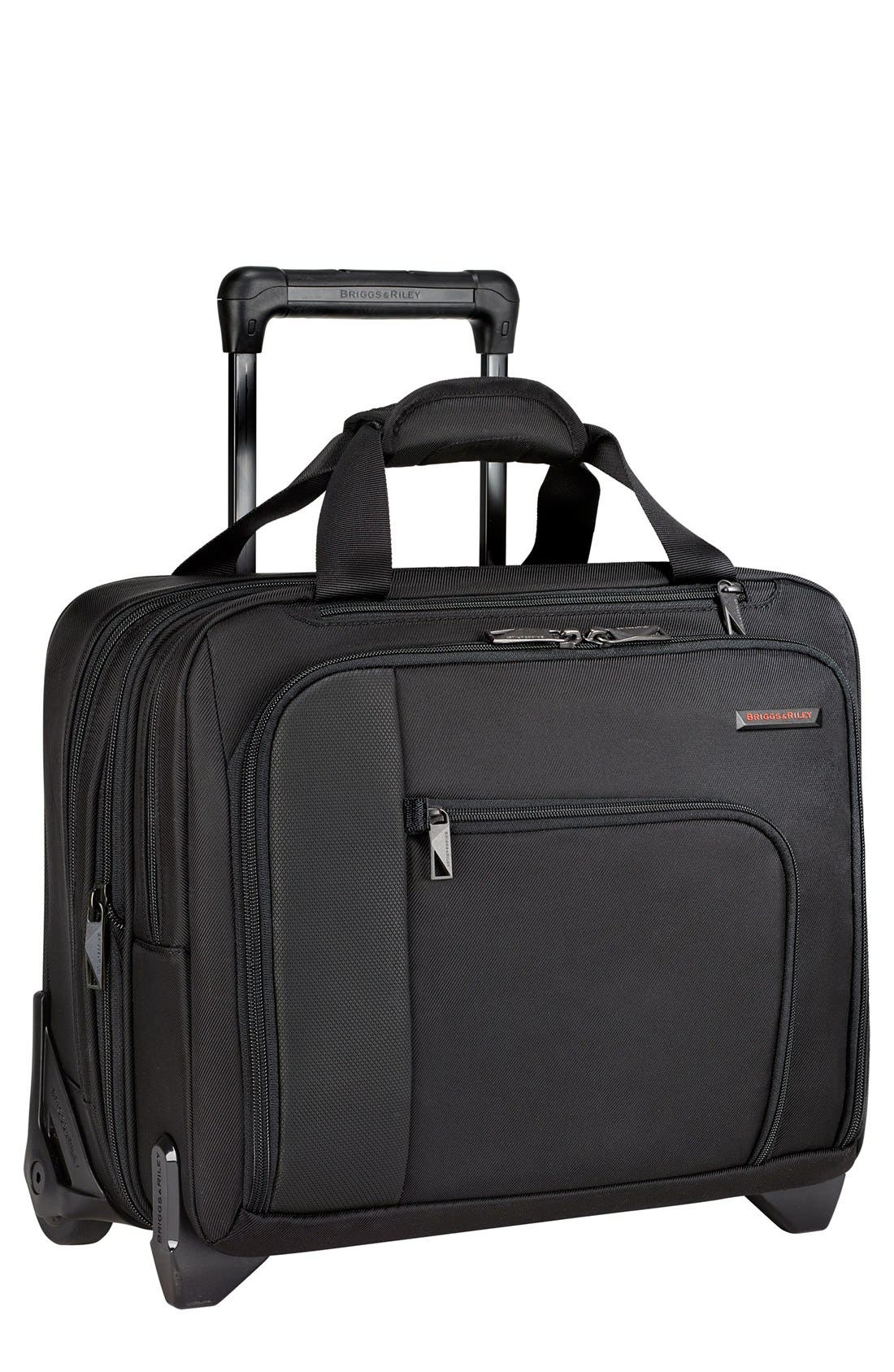 'Verb - Propel' Rolling Briefcase,                             Main thumbnail 1, color,                             Black