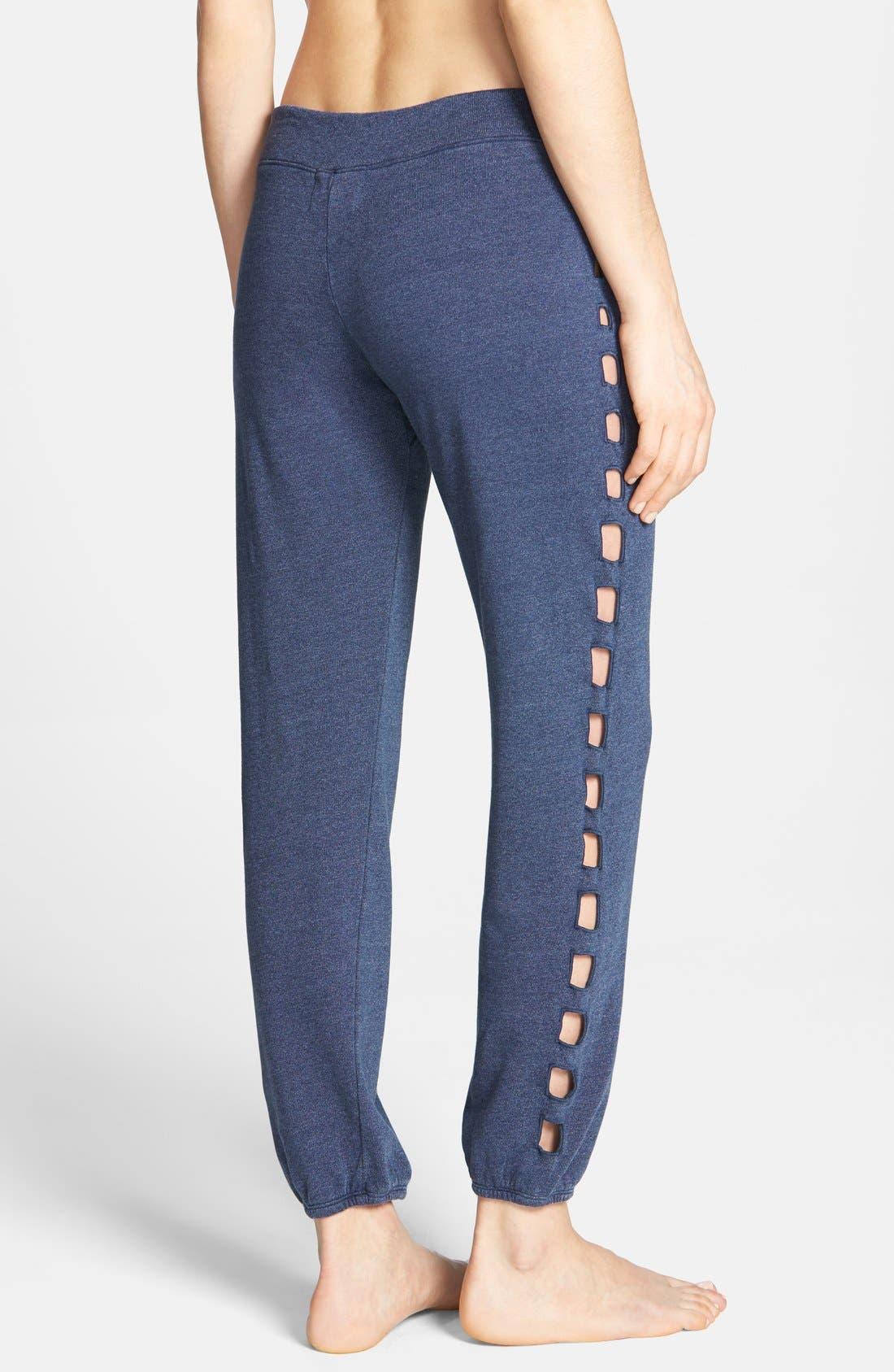Alternate Image 2  - Monrow Cutout Side Vintage Fleece Sweatpants
