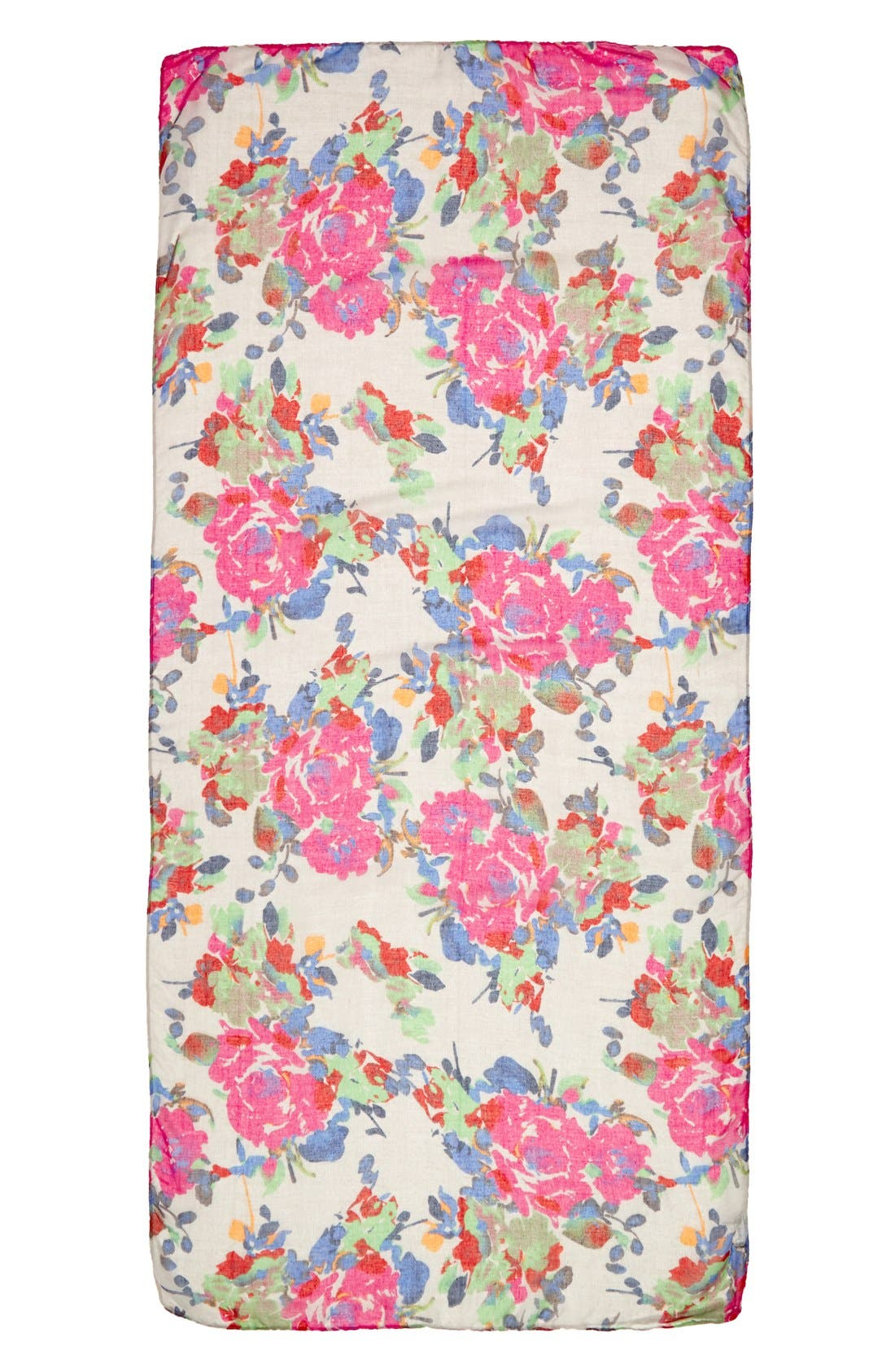 Alternate Image 2  - Lulu Floral Print Scarf (Juniors)