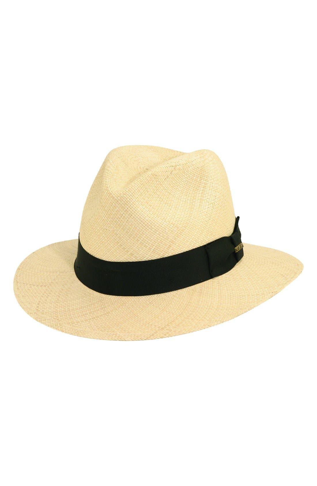 Panama Straw Safari Hat,                             Main thumbnail 1, color,                             Natural