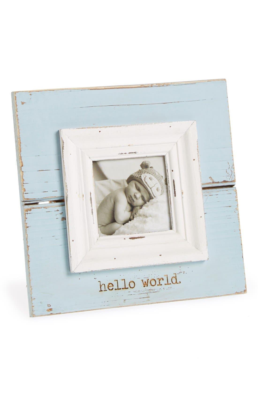 Mud Pie Hello World Picture Frame