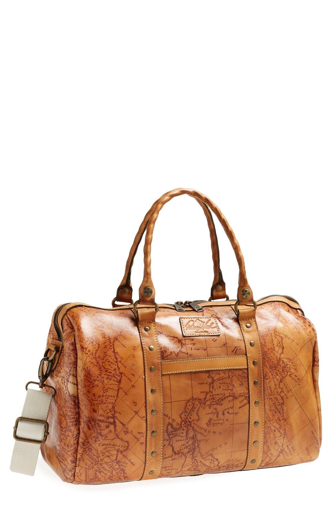 Main Image - Patricia Nash 'Stressa' Leather Overnight Bag (16 Inch)
