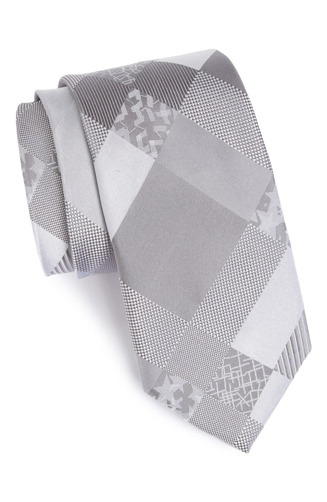 Main Image - Bugatchi Woven Silk Tie