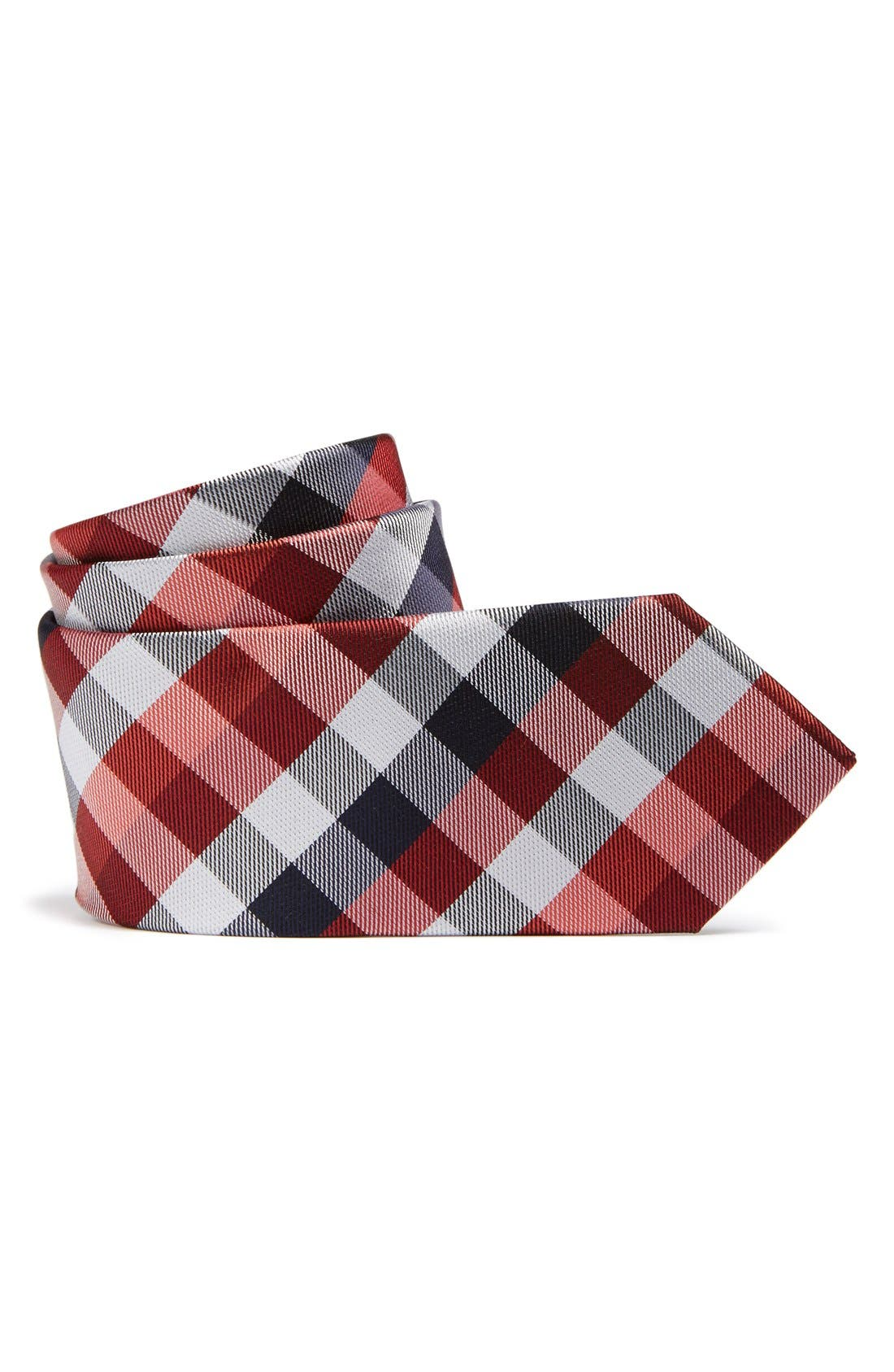 Alternate Image 1 Selected - Nordstrom Plaid Silk Tie (Big Boys)