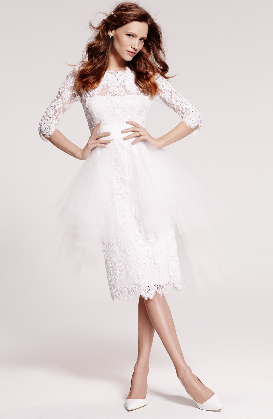 Alternate Image 7  - Marchesa Tulle Overskirt Embroidered Lace Dress (In Stores Only)