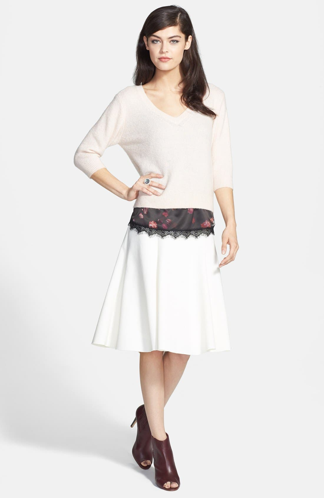 Alternate Image 5  - Chelsea28 Fit & Flare Skirt