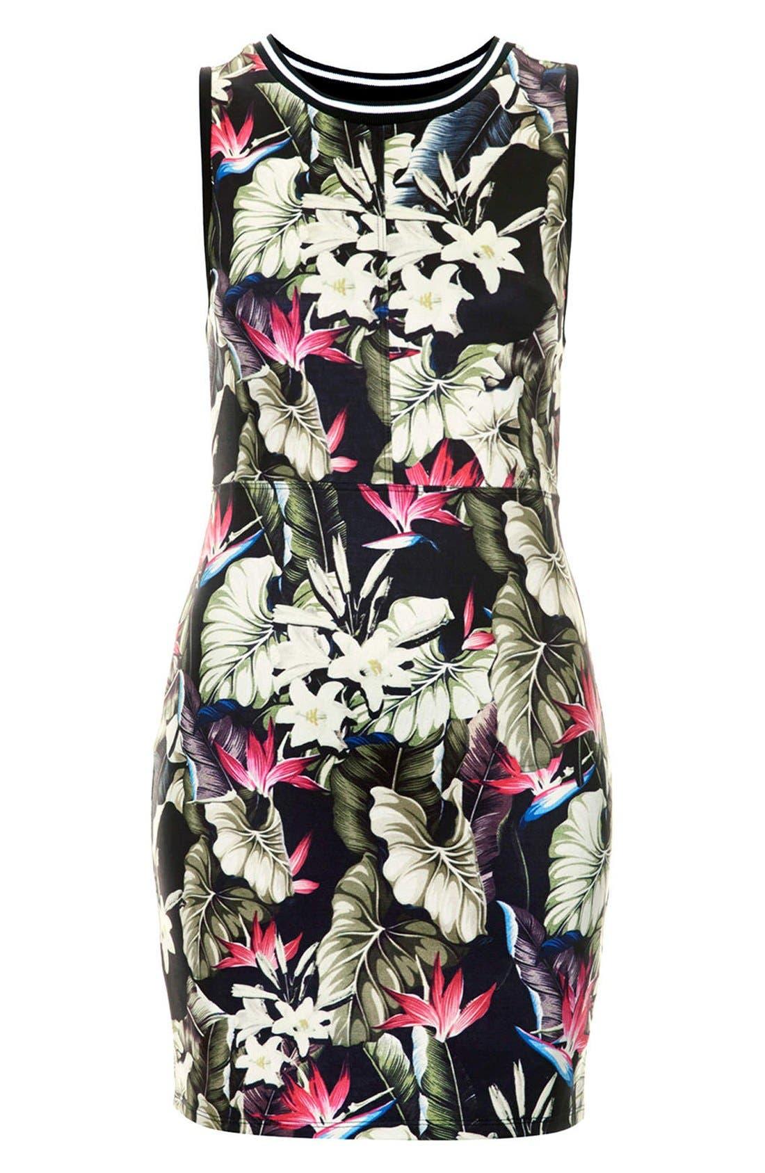 Alternate Image 3  - Topshop 'Island Life' Tropical Print Body-Con Dress