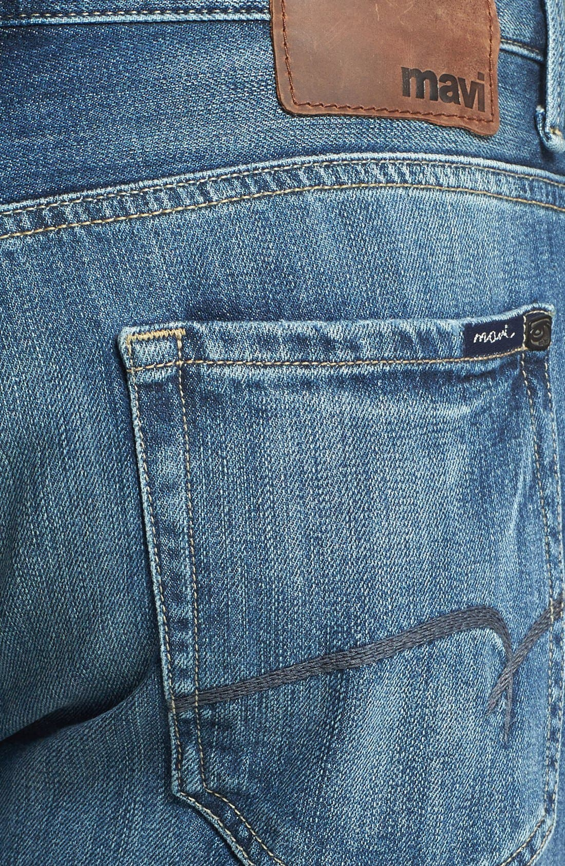 Alternate Image 4  - Mavi Jeans 'Matt' Relaxed Straight Leg Jeans (Indigo Blue) (Online Only)
