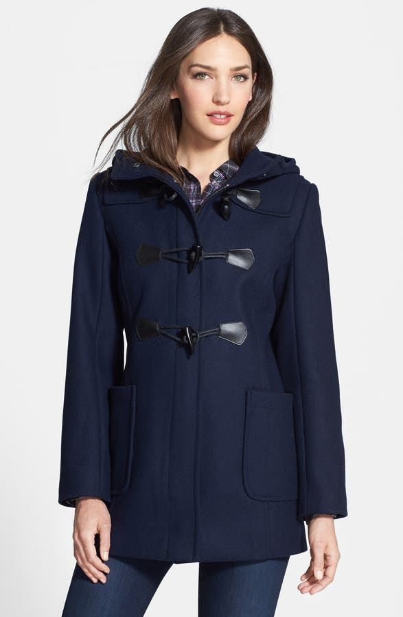 Pendleton Hooded Wool Blend Duffle Coat (Regular & Petite) | Nordstrom