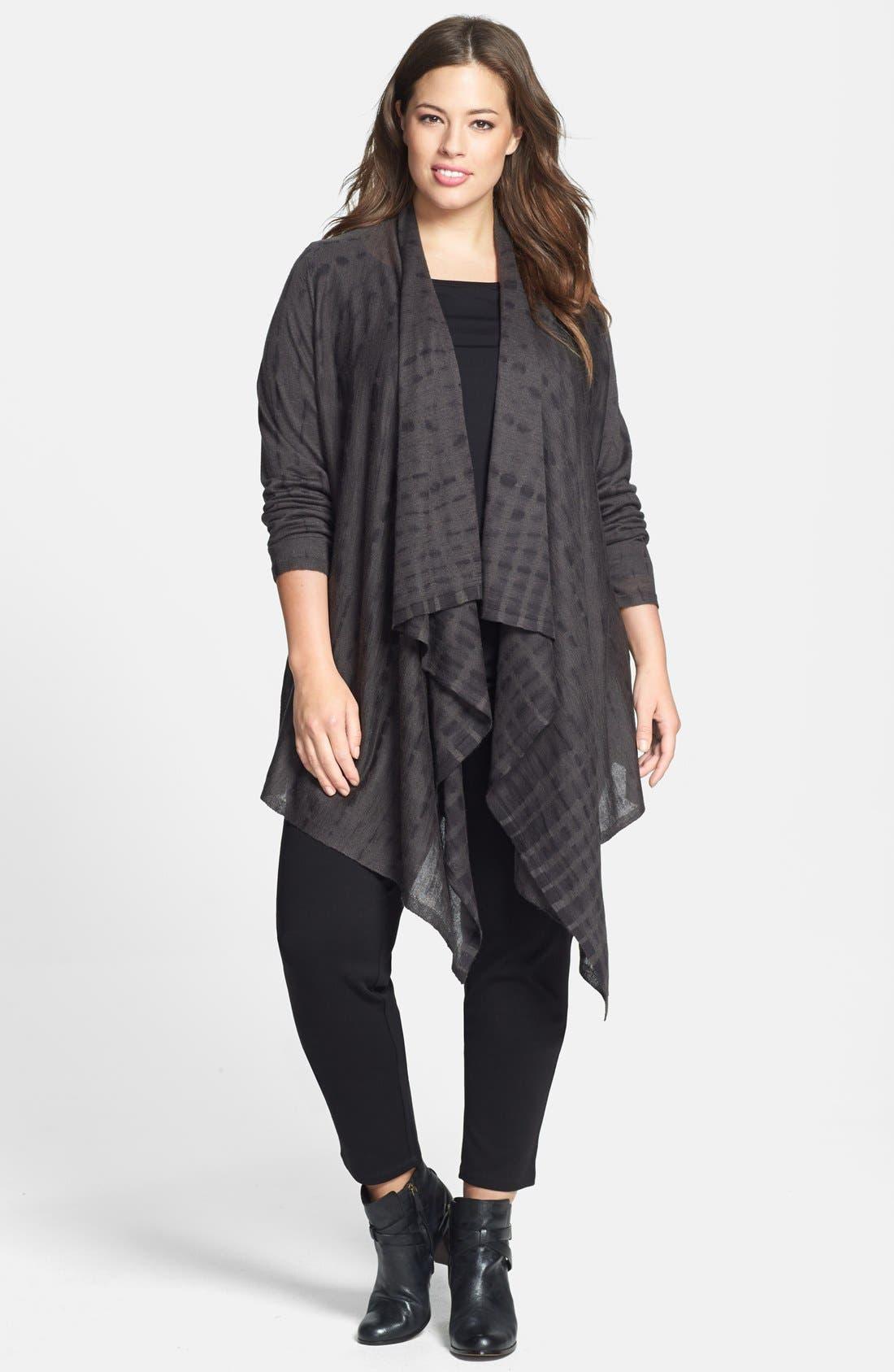 Alternate Image 4  - Eileen Fisher Tie Dye Alpaca & Silk Cardigan (Plus Size)