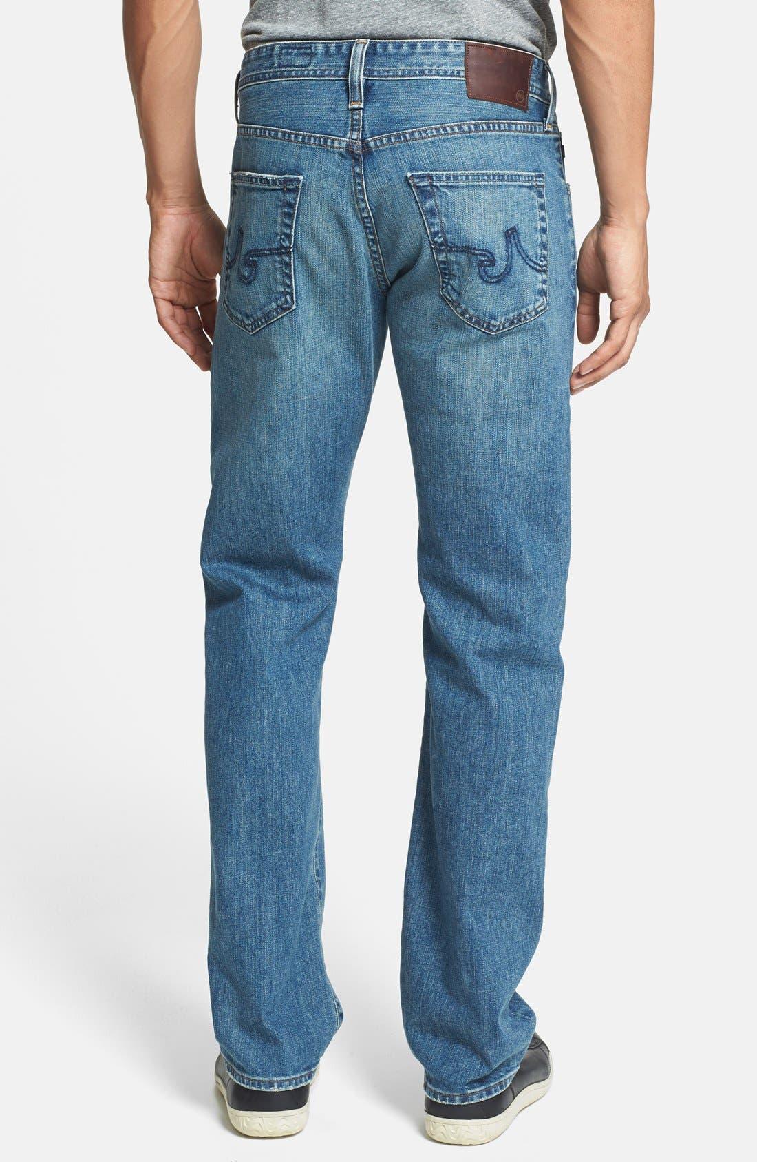 Alternate Image 2  - AG 'Protégé' Straight Leg Jeans (Subterranean)