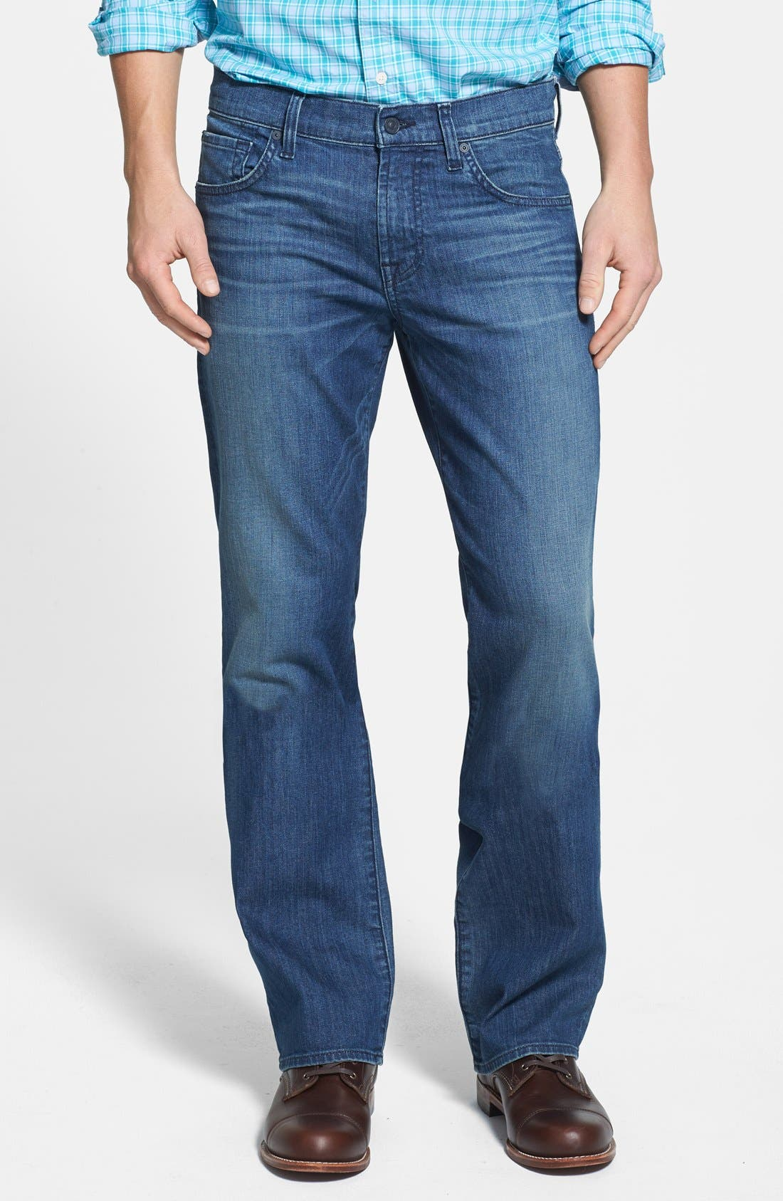 Alternate Image 1 Selected - 7 For All Mankind® 'Carsen' Easy Straight Leg Jeans (Interbay Indigo)