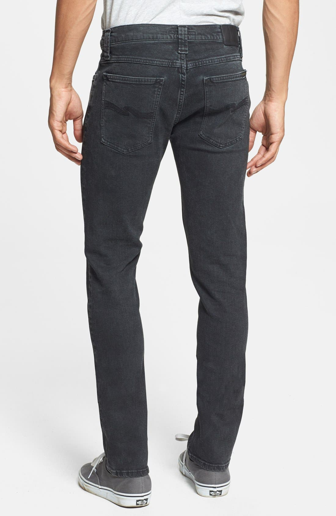 Alternate Image 2  - Nudie Jeans 'Tube Tom' Skinny Fit Jeans (Organic Painted Black)