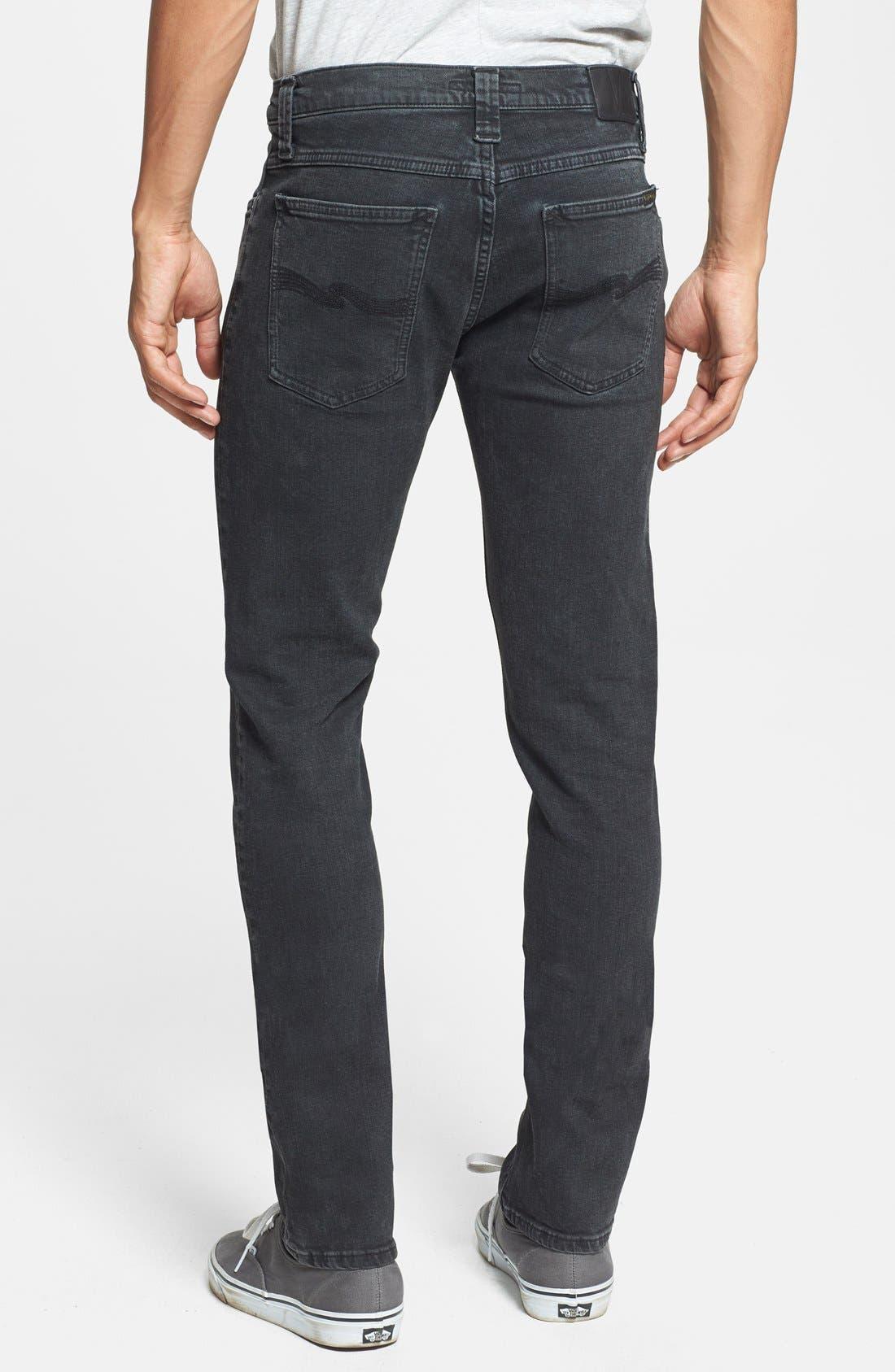 Alternate Image 2  - Nudie Jeans 'Tube Tom' Skinny Fit Jeans (Organic Painted Black)