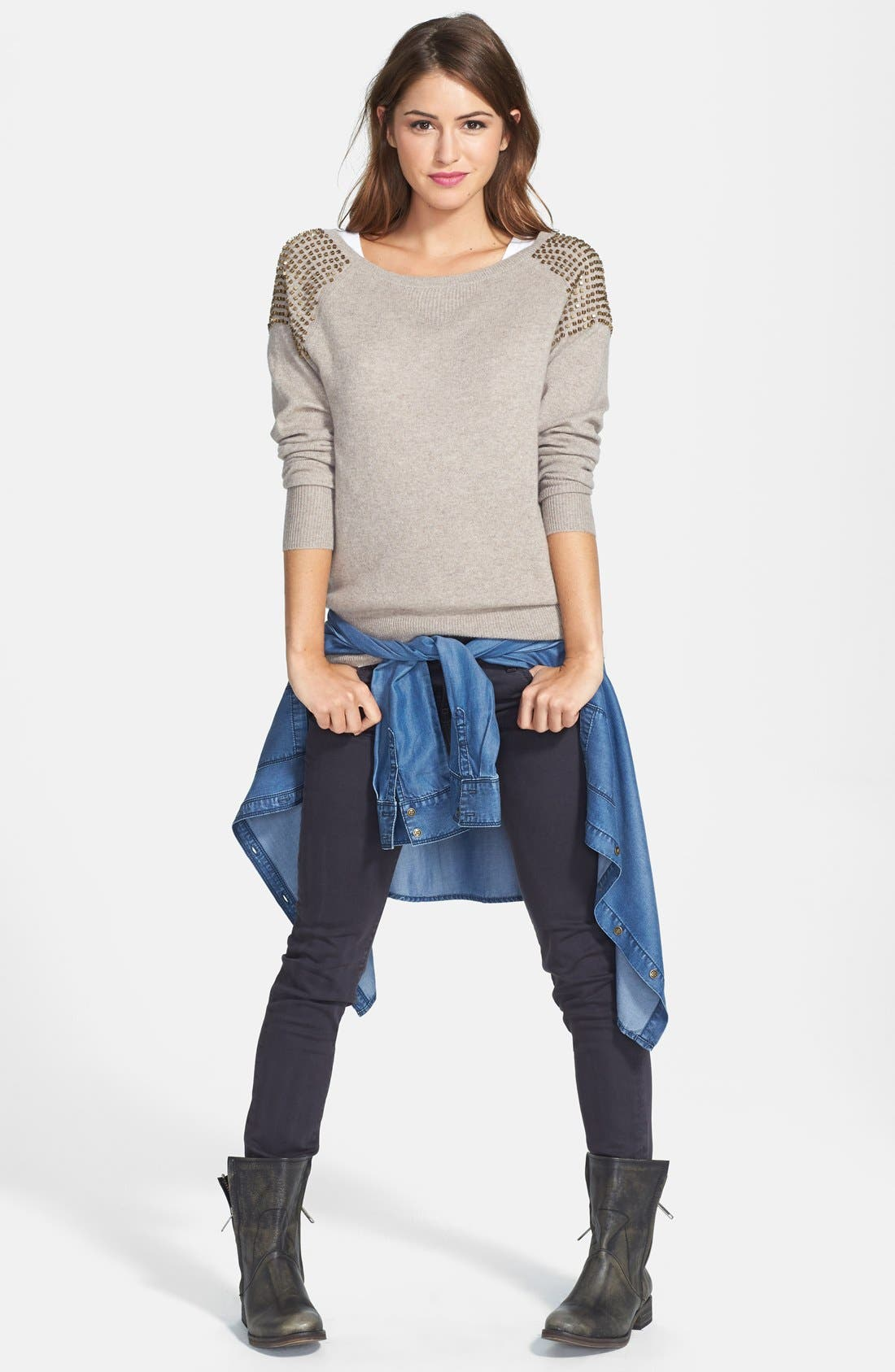 Alternate Image 4  - KUT from the Kloth 'Mia' Stretch Skinny Jeans (Graceful)