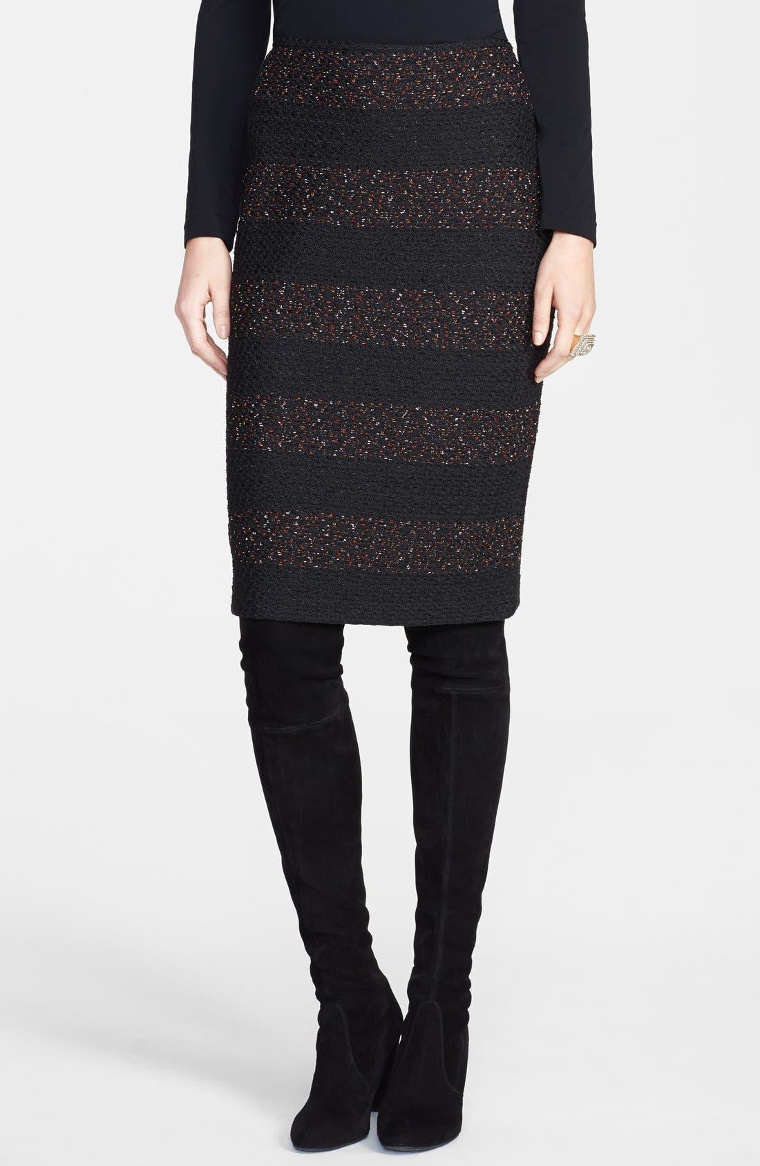 Main Image - St. John Collection Textured Fleck Knit Pencil Skirt