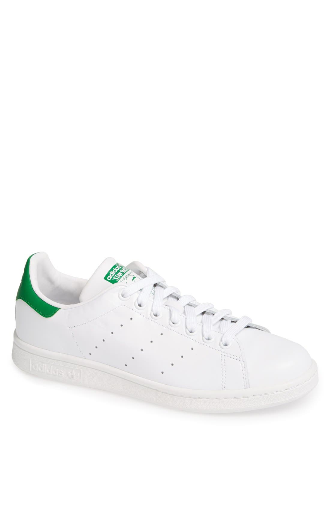 'Stan Smith' Sneaker,                         Main,                         color, Core White/ Green