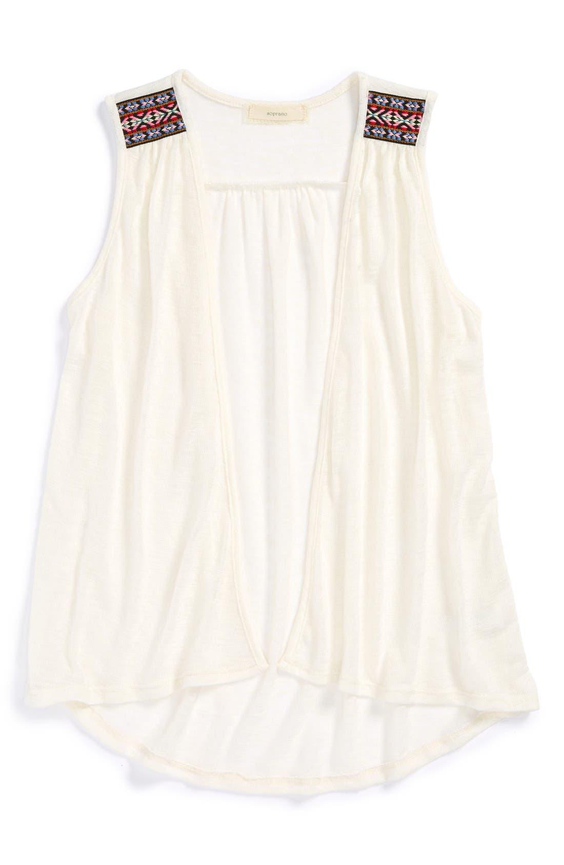 Sleeveless Vest,                         Main,                         color, Eggshell