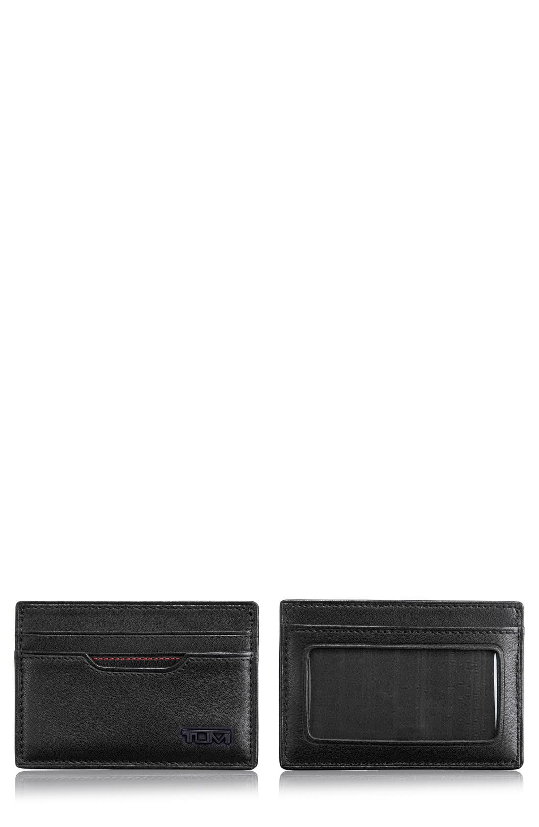 Delta - ID Lock<sup>™</sup> Shielded Slim Card Case & ID Wallet,                             Main thumbnail 1, color,                             Black