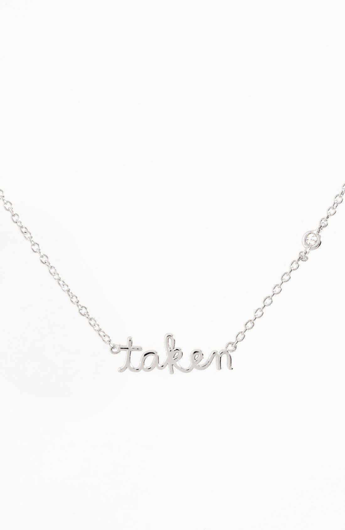 Taken Necklace,                         Main,                         color, Silver
