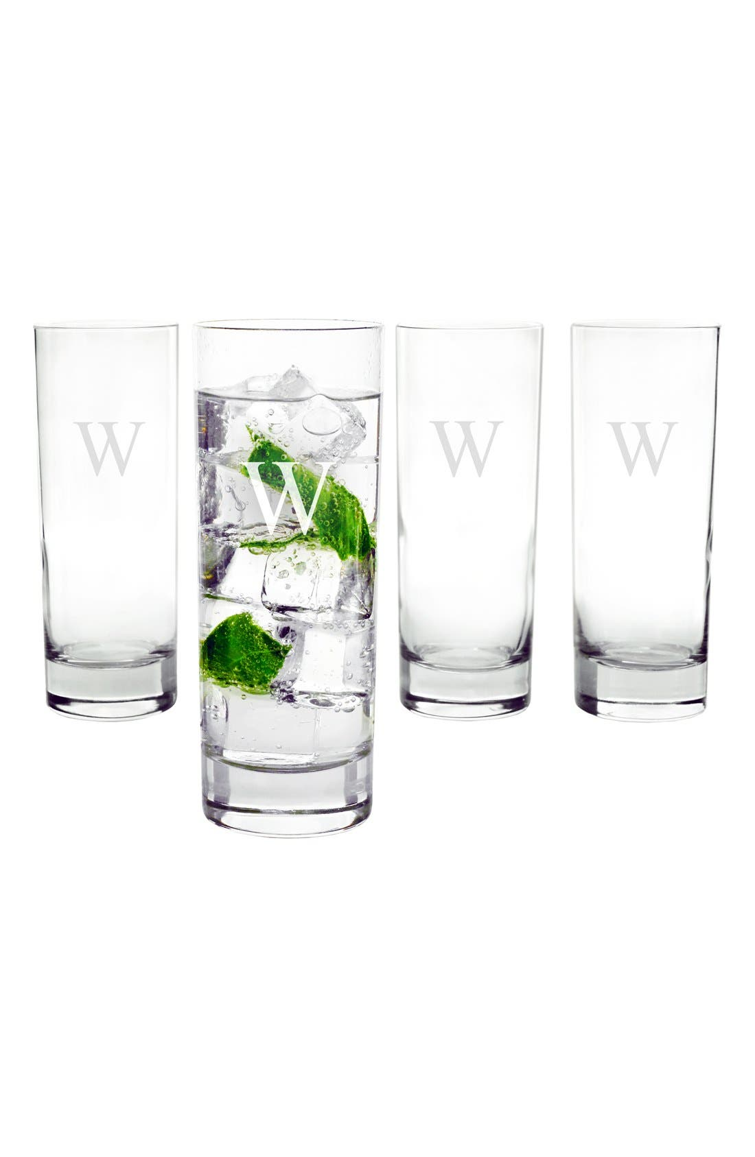 Alternate Image 2  - Cathy's Concepts Personalized Cocktail Glasses (Set of 4)