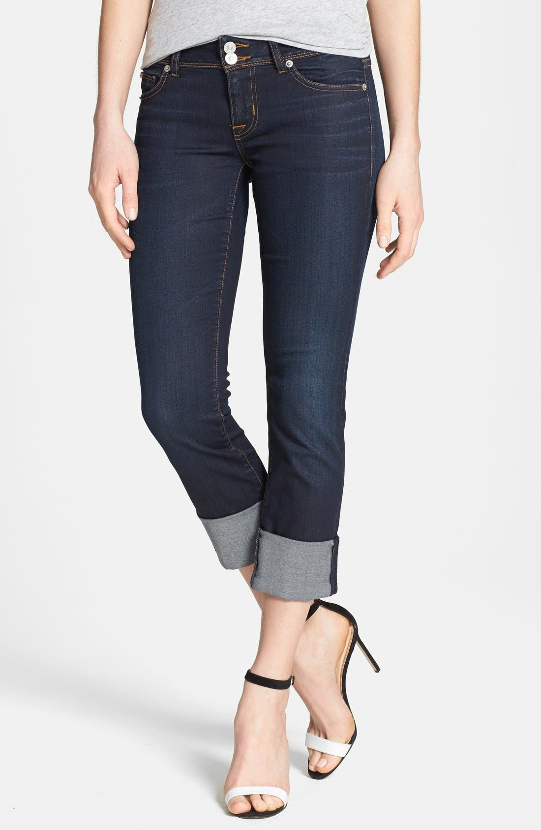 Main Image - Hudson Jeans 'Ginny' Crop Stretch Jeans (Forsythia)