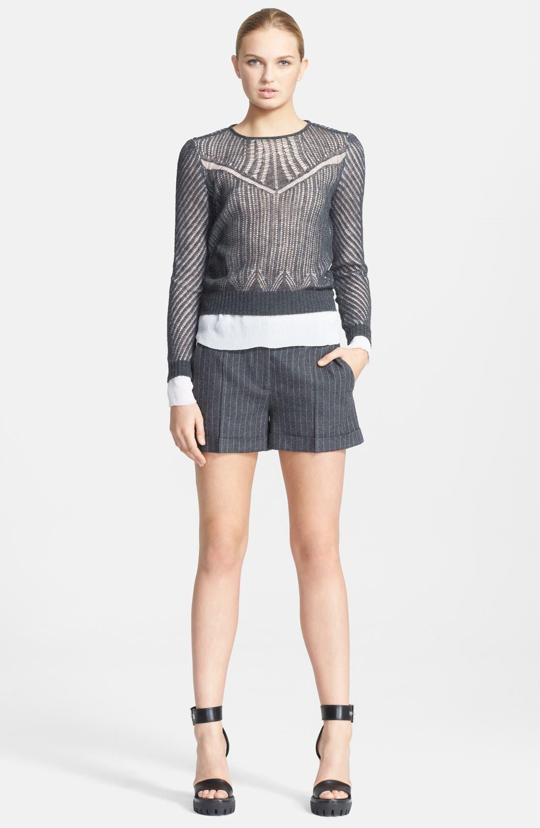Alternate Image 3  - Alexander McQueen Layered Silk & Wool Sweater