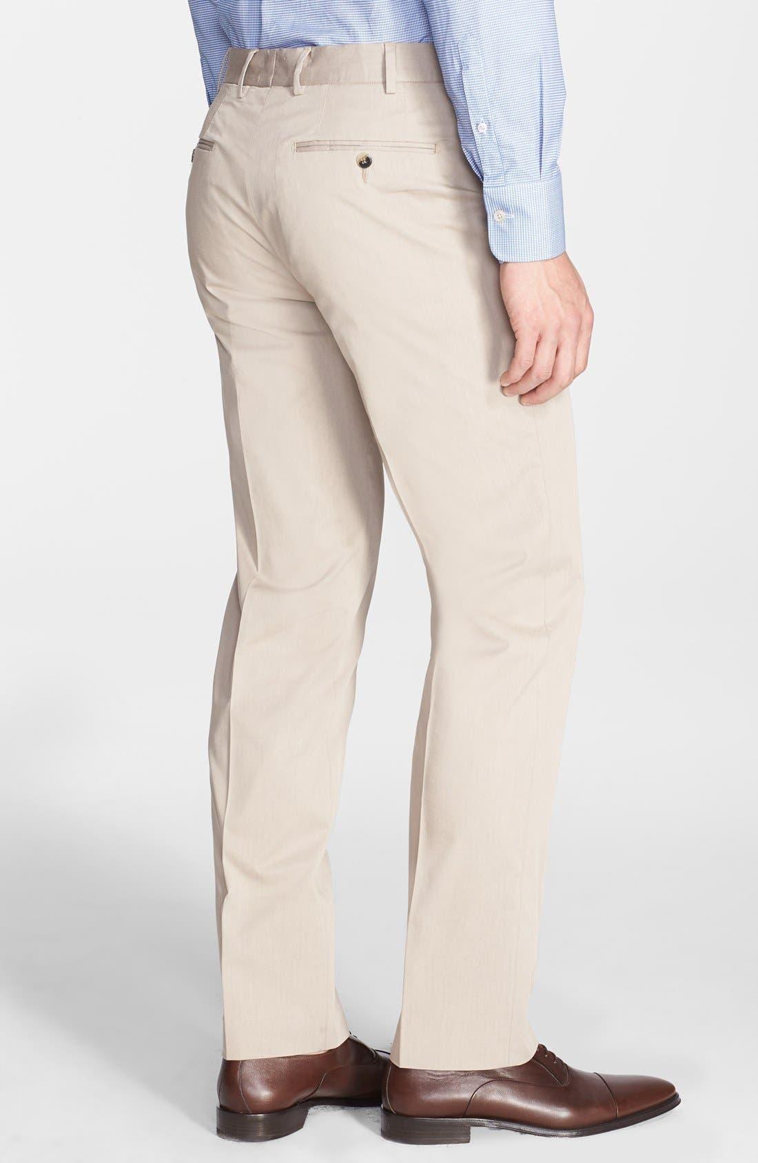 Alternate Image 2  - Canali Five Pocket Stretch Cotton Italian Pants