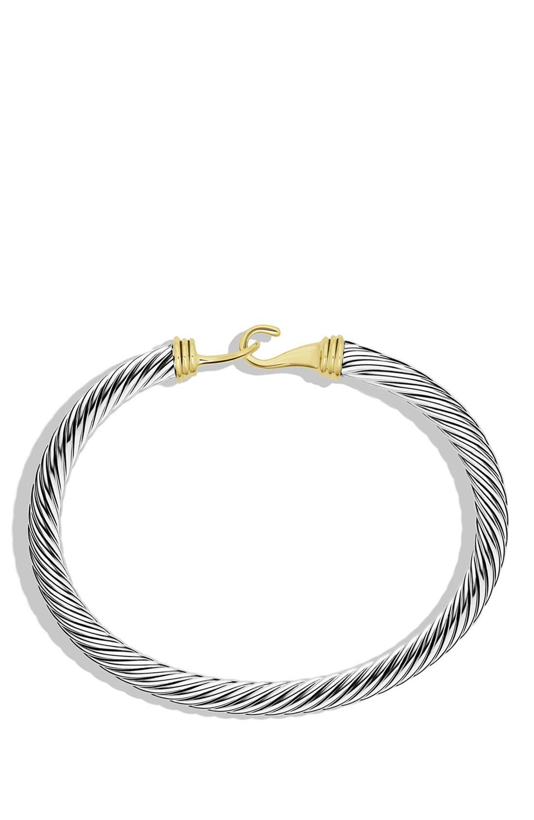 Alternate Image 2  - David Yurman 'Cable Buckle' Bracelet with Gold