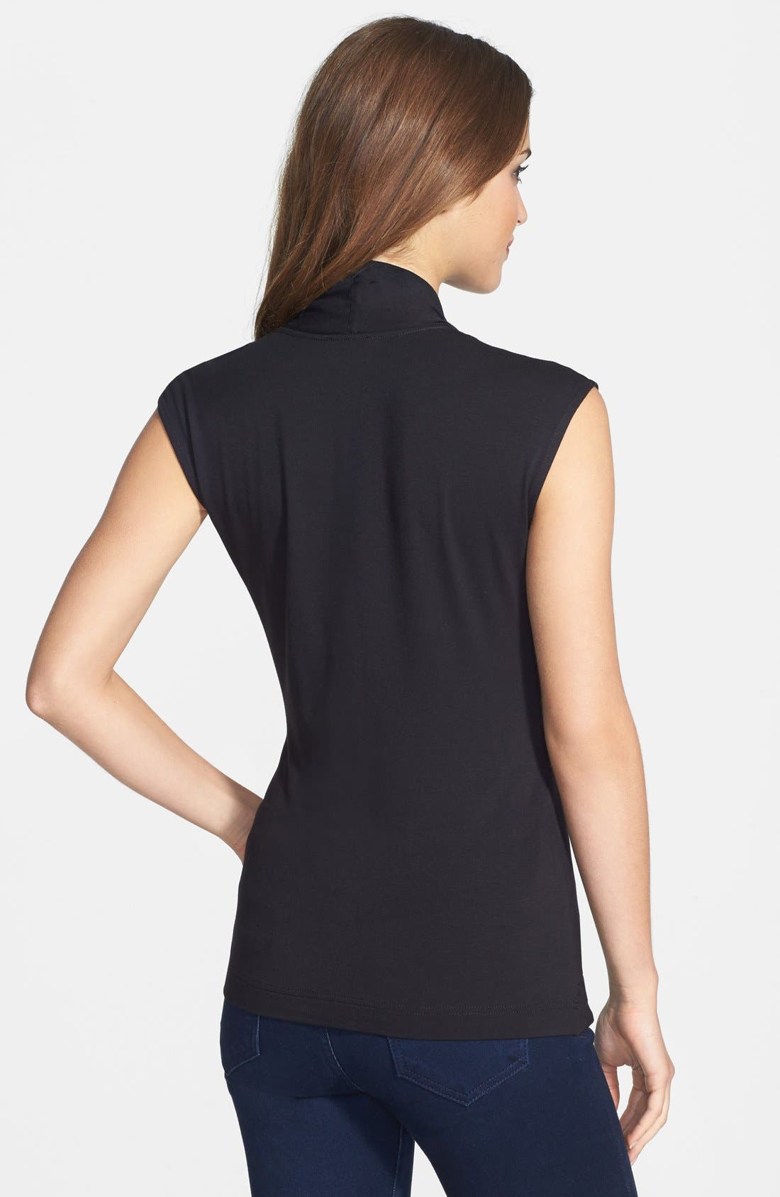 Alternate Image 2  - Vince Camuto Draped Front Stretch Knit Top
