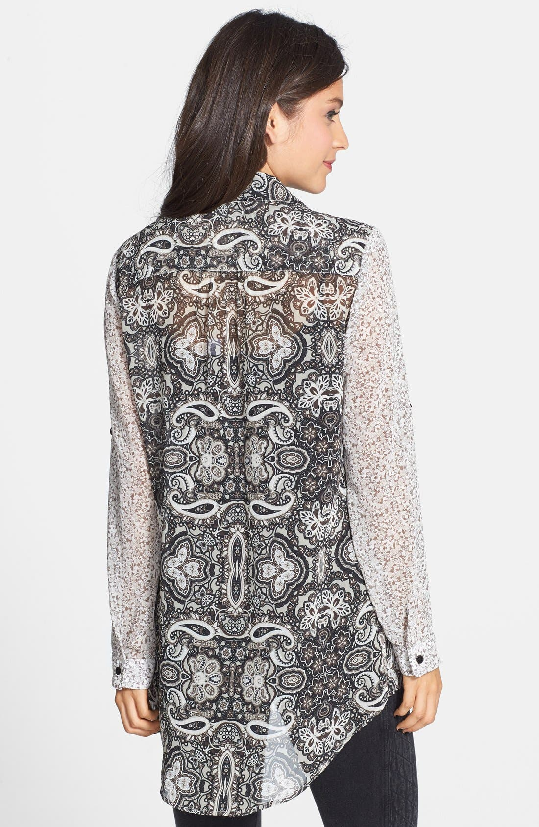 Alternate Image 3  - Band of Gypsies Mixed Print Oversized Tunic (Juniors)